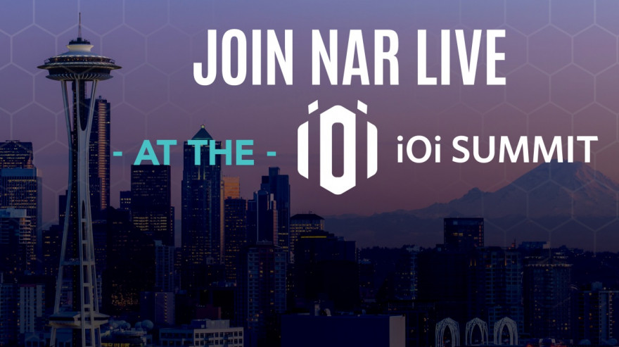 purple image of downtown Seattle with the text Join NAR live at the iOi Summit