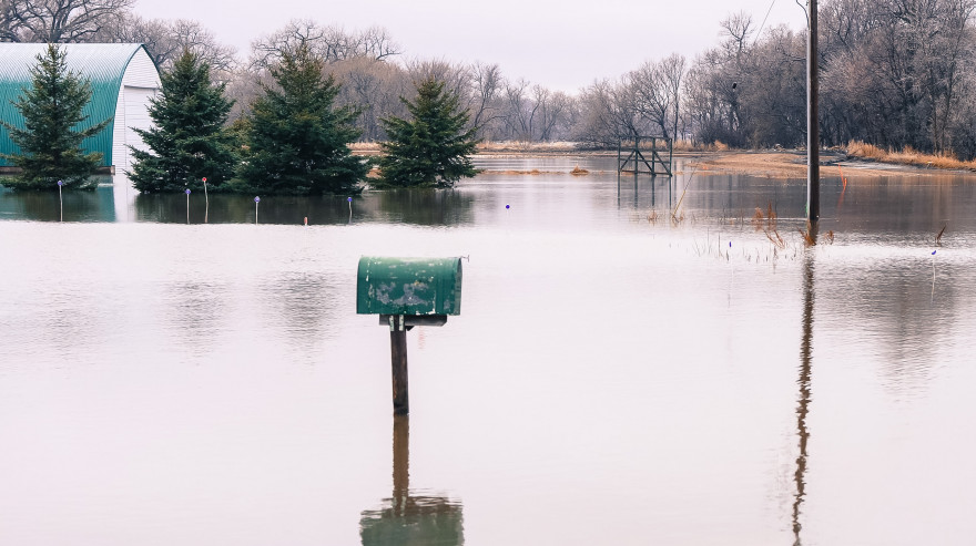 mailbox underwater flooding Kindred ND FEMA