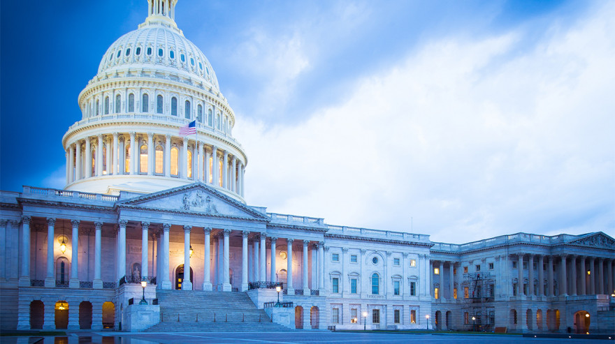 U.S. Capitol at dusk