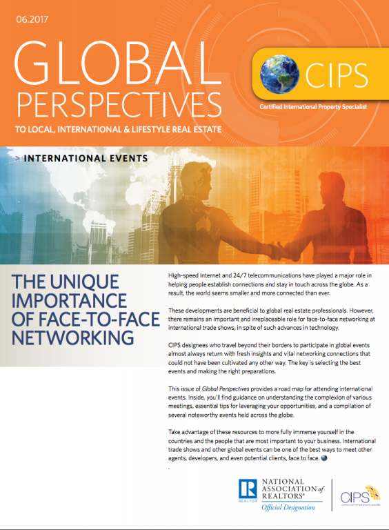 Cover of the June 2017 issue of Global Perspectives: International Events