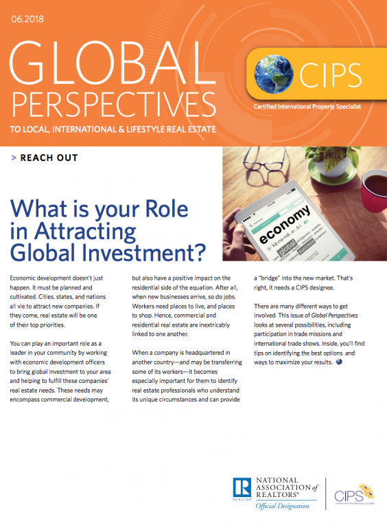 Cover of the June 2018 issue of Global Perspectives: Reach Out