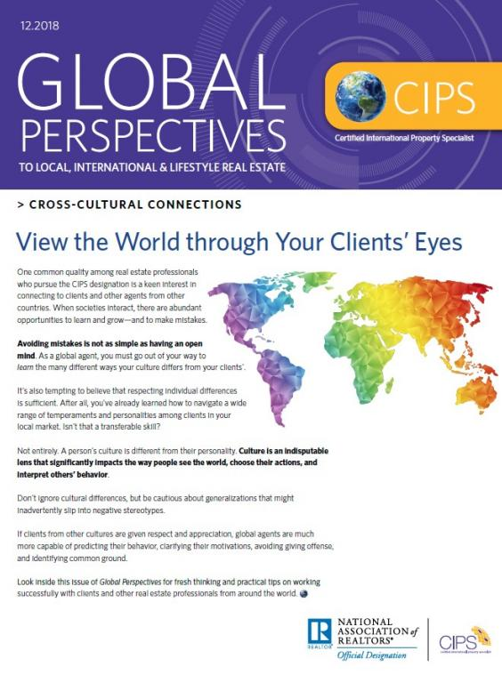 December 2018 Global Perspectives Cross Cultural Connections Cover