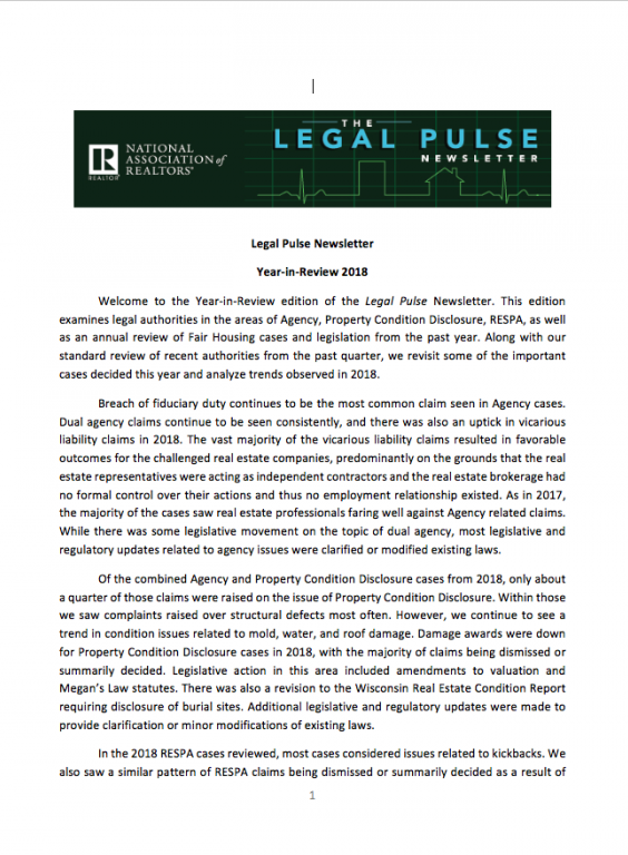 Legal Pulse 4Q 2018 publication cover image