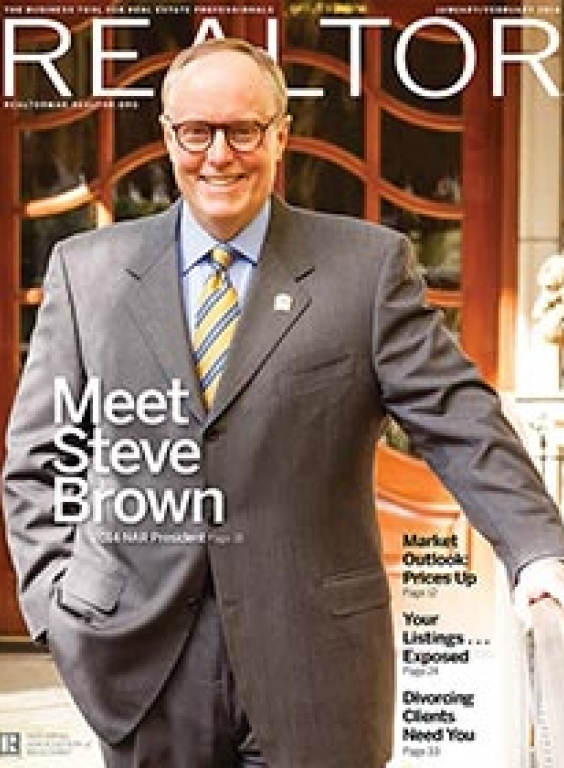 REALTOR® Magazine Cover, January-February 2014: Meet Steve Brown