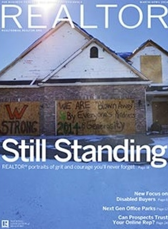 REALTOR® Magazine Cover, March-April 2014: Still Standing