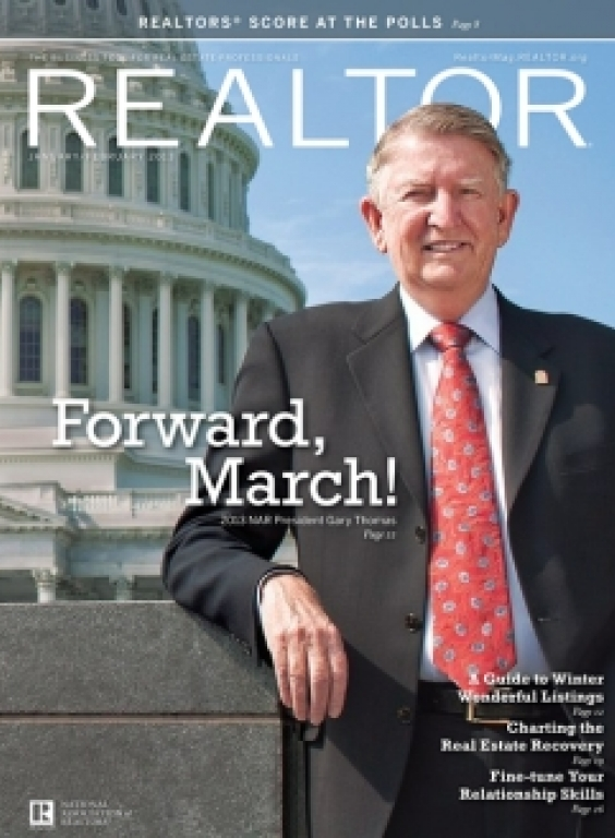 REALTOR® Magazine Cover, January/February 2013