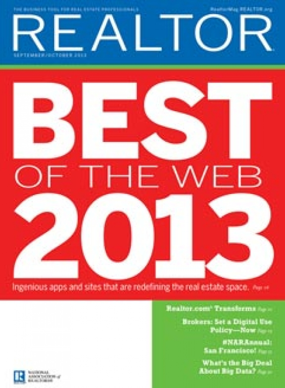 REALTOR® Magazine Cover, September-October 2013: Best of the Web 2013