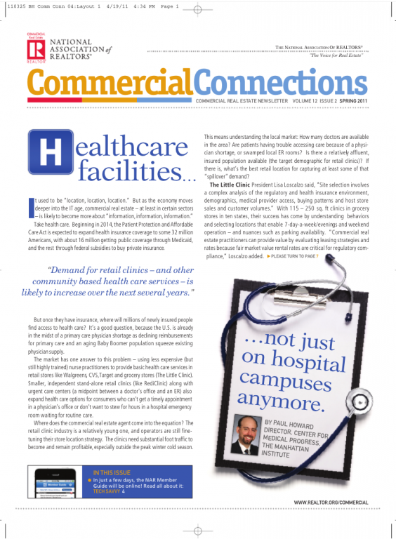 Cover of the 2011 Spring issue of Commercial Connections: Healthcare Facilities