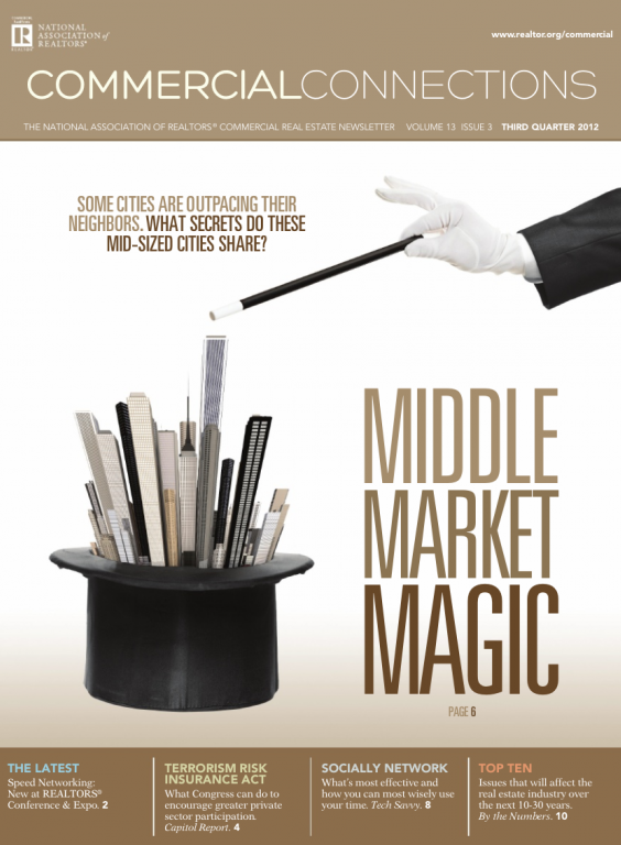 Cover of the 2012 Fall issue of Commercial Connections: Middle Market Magic