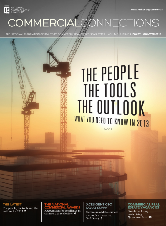 Cover of the 2012 Winter issue of Commercial Connections: The People, The Tools, The Outlook