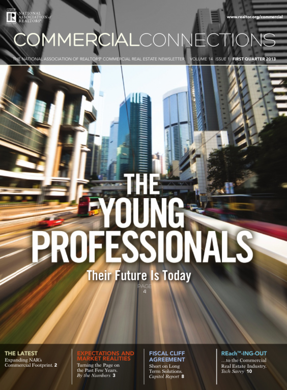 Cover of the 2013 Spring issue of Commercial Connections: The Young Professionals