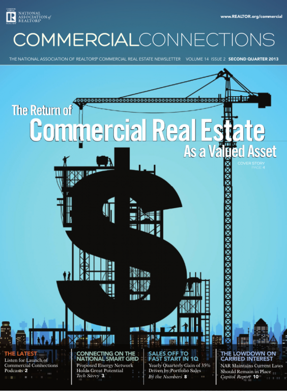 Cover of the 2013 Summer issue of Commercial Connections: The Return of Commercial Real Estate as a Valued Asset