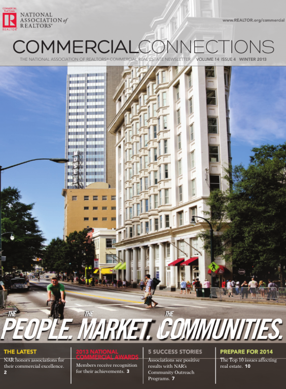 Cover of the 2013 Winter issue of Commercial Connections: The People, The Market, The Communities