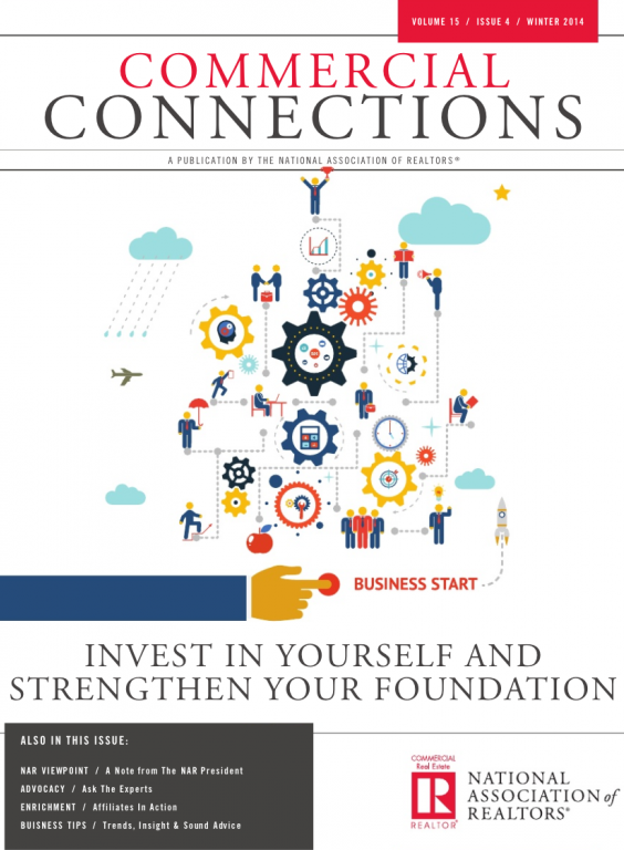 Cover of the 2014 Winter issue of Commercial Connections: Invest in Yourself and Strengthen Your Foundation