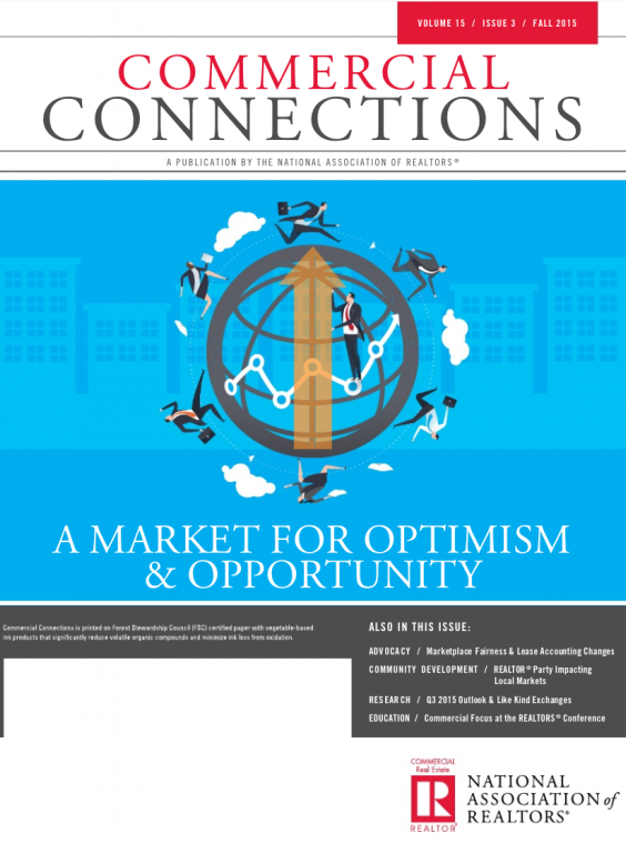 Cover of the 2015 Fall issue of Commercial Connections: A Market for Optimism and Opportunity