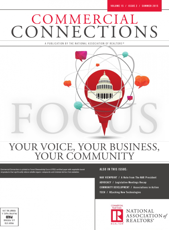 Cover of the 2015 Summer issue of Commercial Connections: Your Voice, Your Business, Your Community