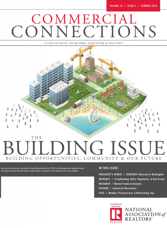 Cover of the 2016 Summer issue of Commercial Connections: The Building Issue
