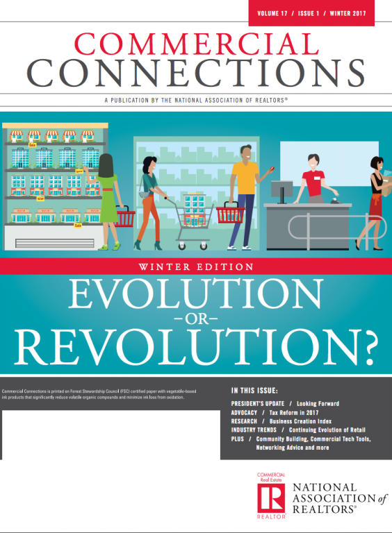 Cover of the 2017 Winter issue of Commercial Connections: Evolution or Revolution