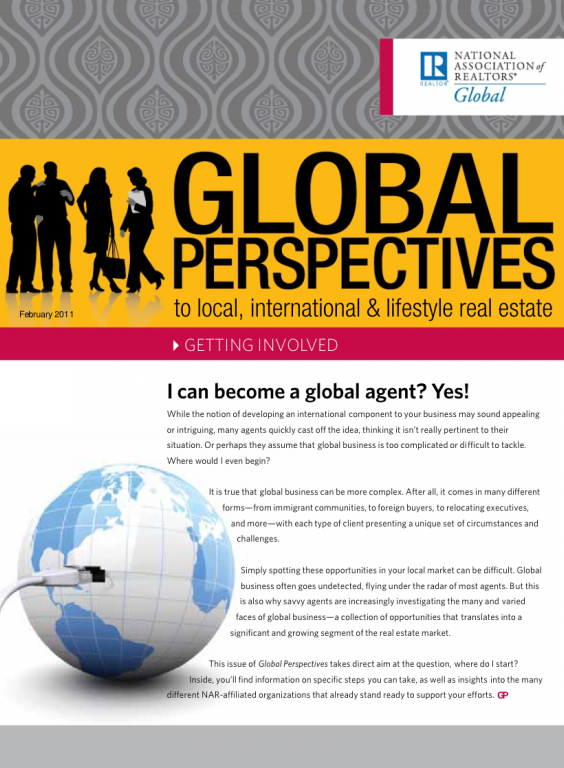 Cover of the February 2011 issue of Global Perspectives: Getting Involved