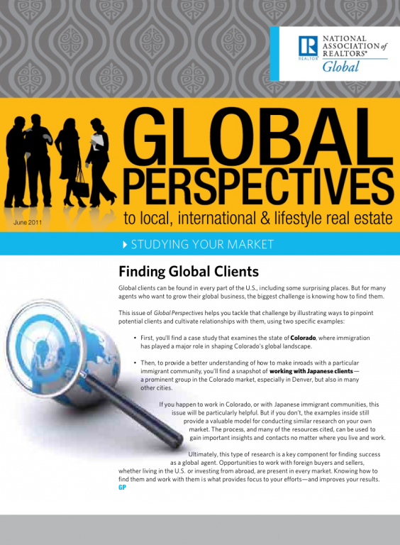 Cover of the June 2011 issue of Global Perspectives: Studying Your Market