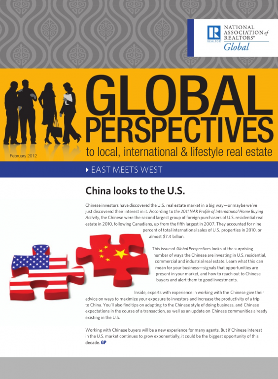 Cover of the February 2012 issue of Global Perspectives: East Meets West