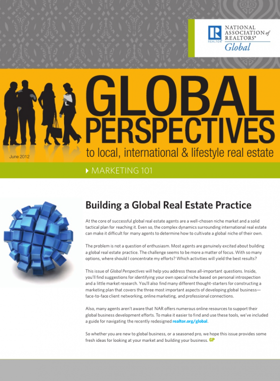Cover of the June 2012 issue of Global Perspectives: Marketing 101