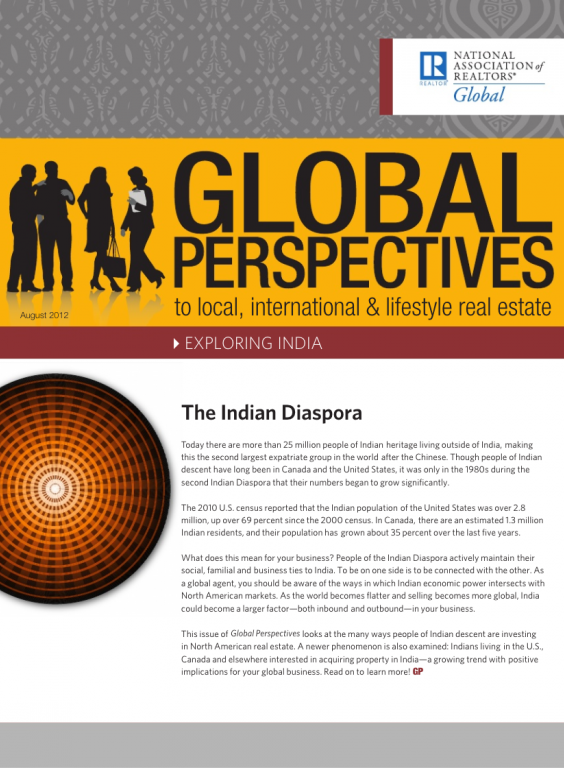 Cover of the August 2012 issue of Global Perspectives: Exploring India