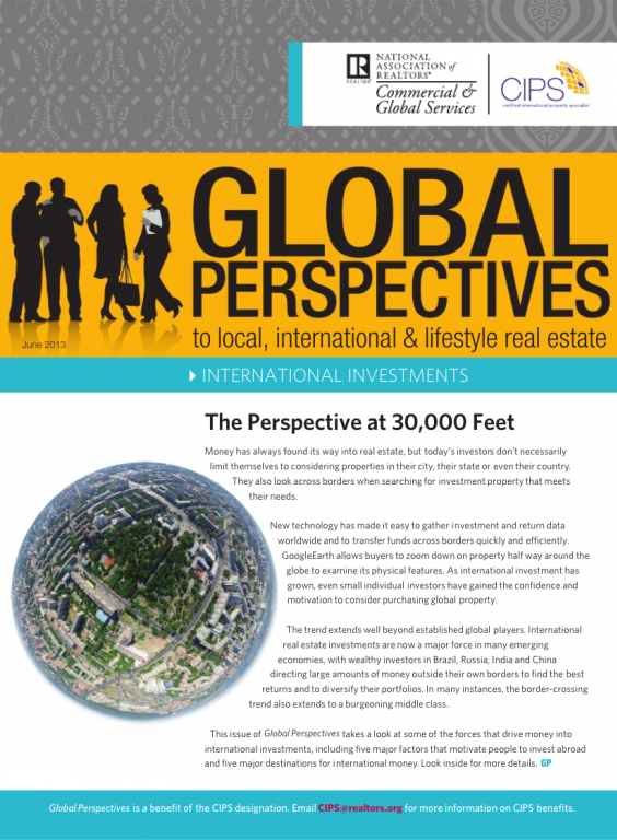 Cover of the June 2013 issue of Global Perspectives: International Investments