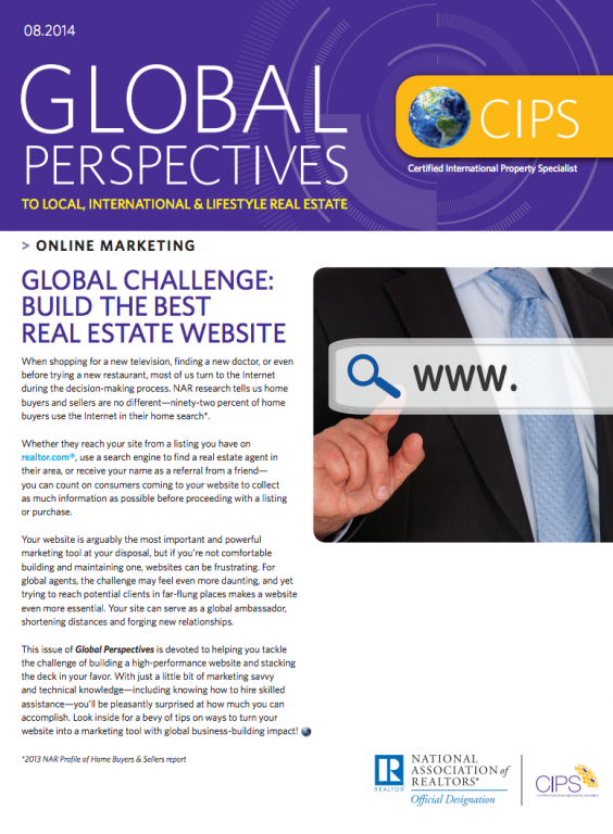 Cover of the August 2014 issue of Global Perspectives: Online Marketing