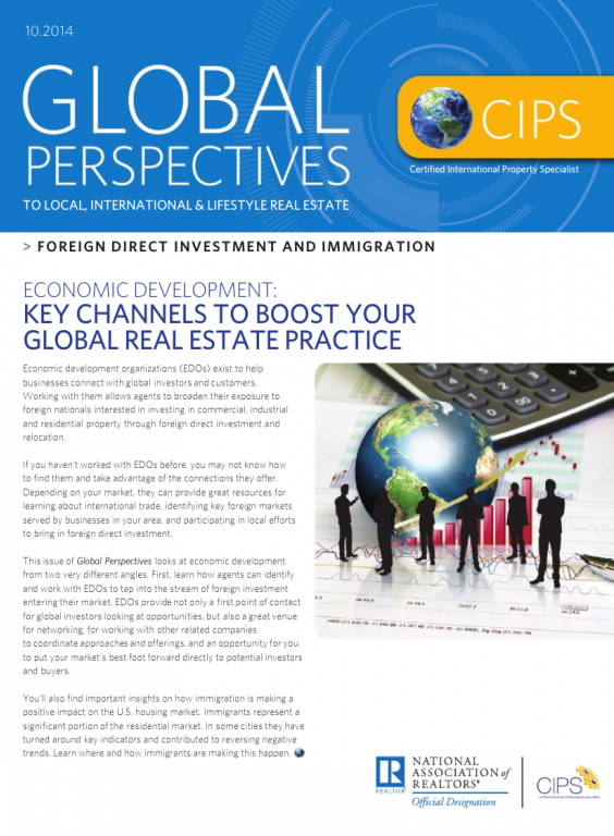 Cover of the October 2014 issue of Global Perspectives: Foreign Direct Investment and Immigration