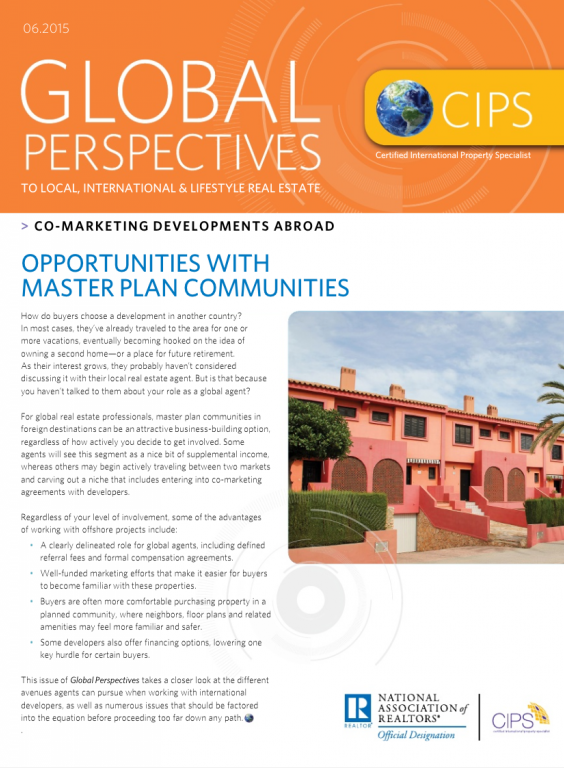 Cover of the June 2015 issue of Global Perspectives: Co-Marketing Developments Abroad