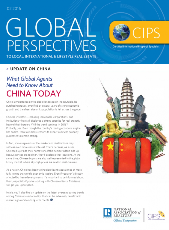 Cover of the February 2016 issue of Global Perspectives: Update on China