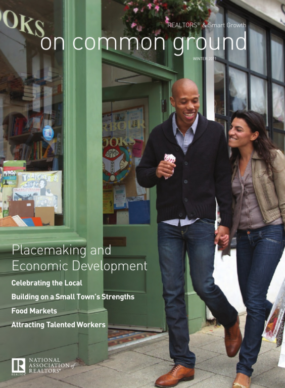Cover of the 2011 Winter issue of On Common Ground: Placemaking and Economic Development