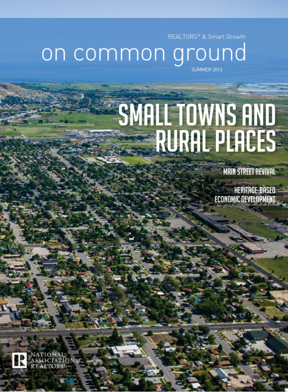 Cover of the 2013 Summer issue of On Common Ground: Small Towns and Rural Places