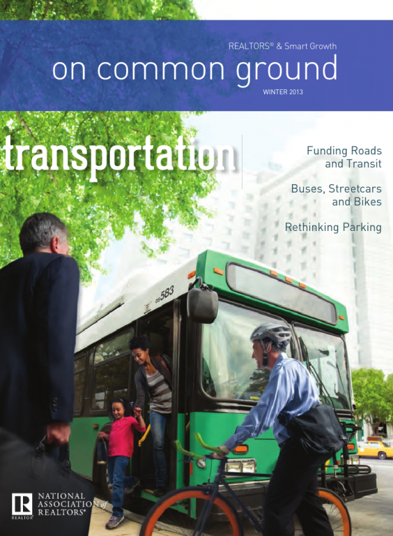 Cover of the 2013 Winter issue of On Common Ground: Transportation