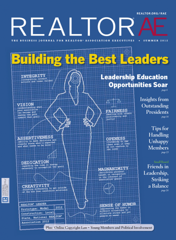 Cover of the 2012 Summer issue of REALTOR® AE Magazine: Building the Best Leaders