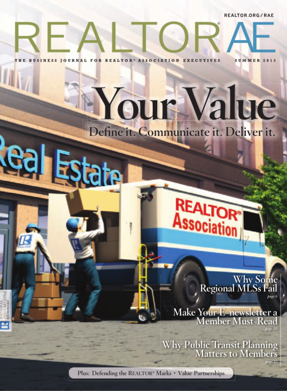 Cover of the 2013 Summer issue of REALTOR® AE Magazine: Define Your Value
