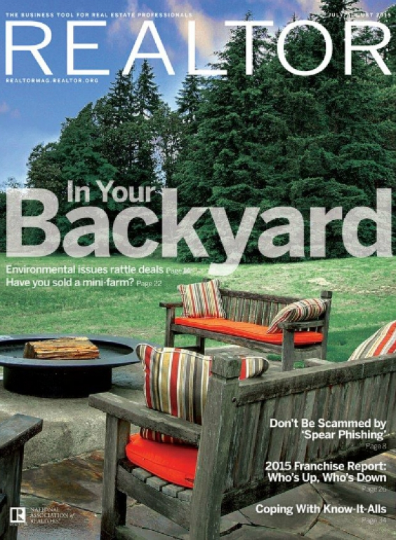 REALTOR® Magazine Cover, July/August 2015: In Your Backyard