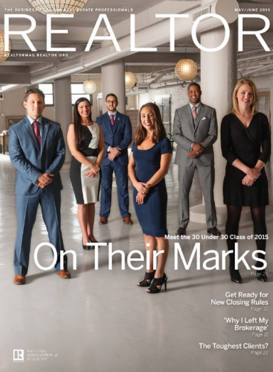 REALTOR® Magazine Cover, May/June 2015: On Their Marks