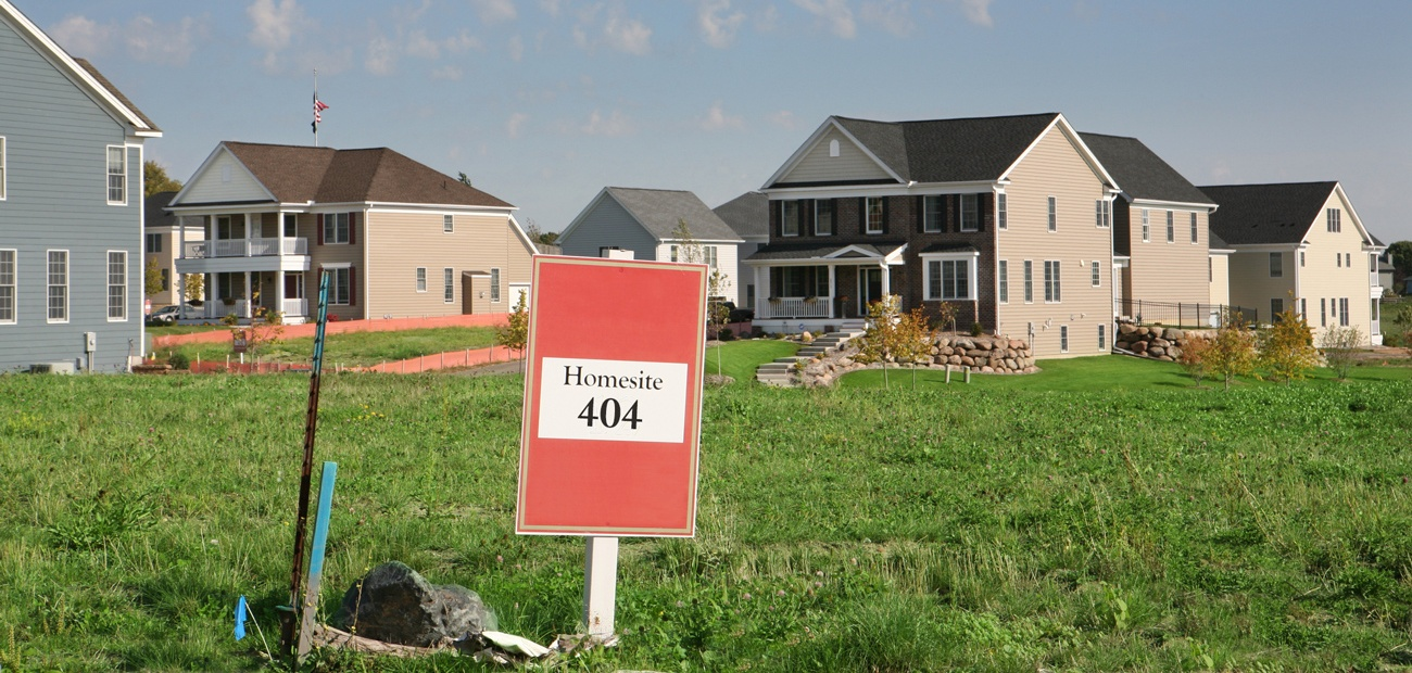 Empty Lot in New Housing Development - 404