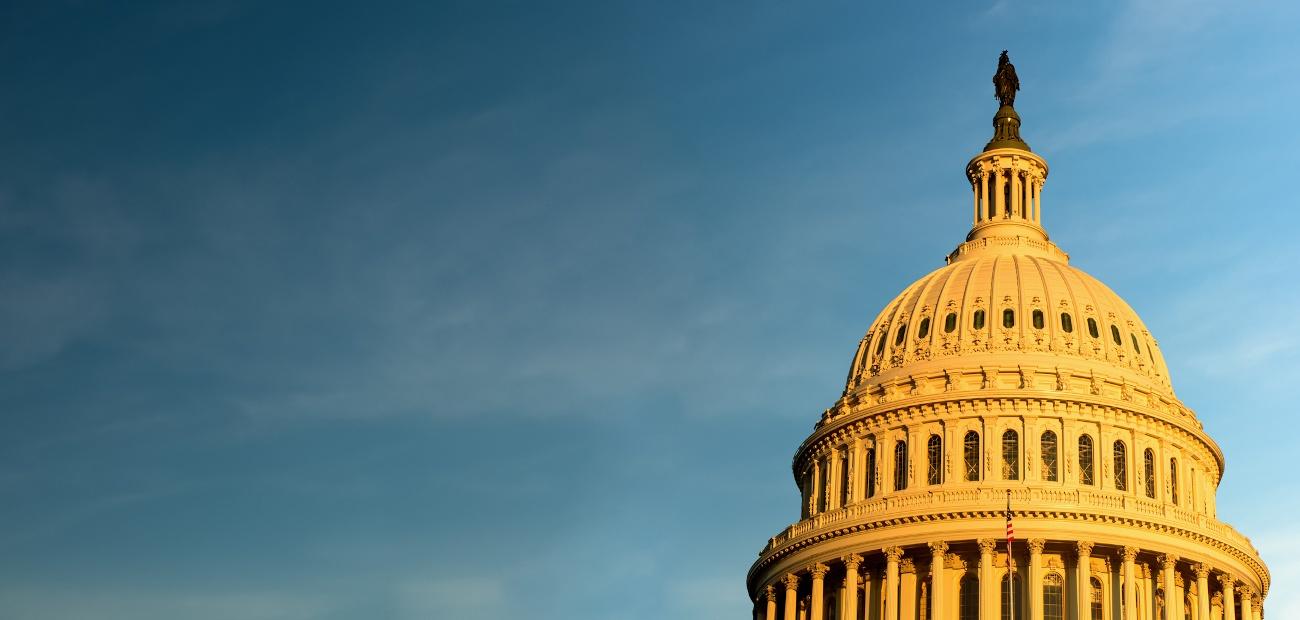 The Capitol Hill rotunda in Washington, DC.