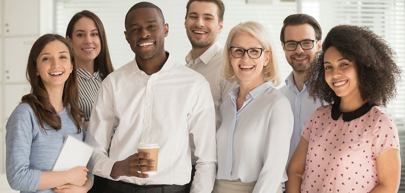 Diverse Group of Smiling Professionals