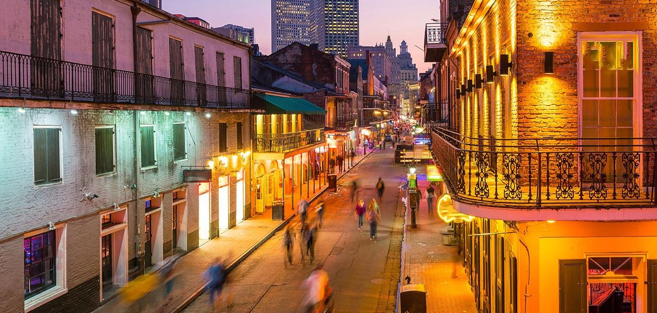 New Orleans Street at Dusk