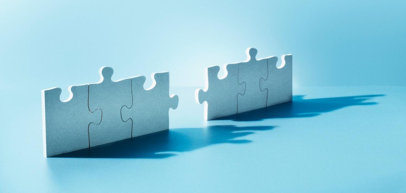 puzzle pieces - acquisition concept image