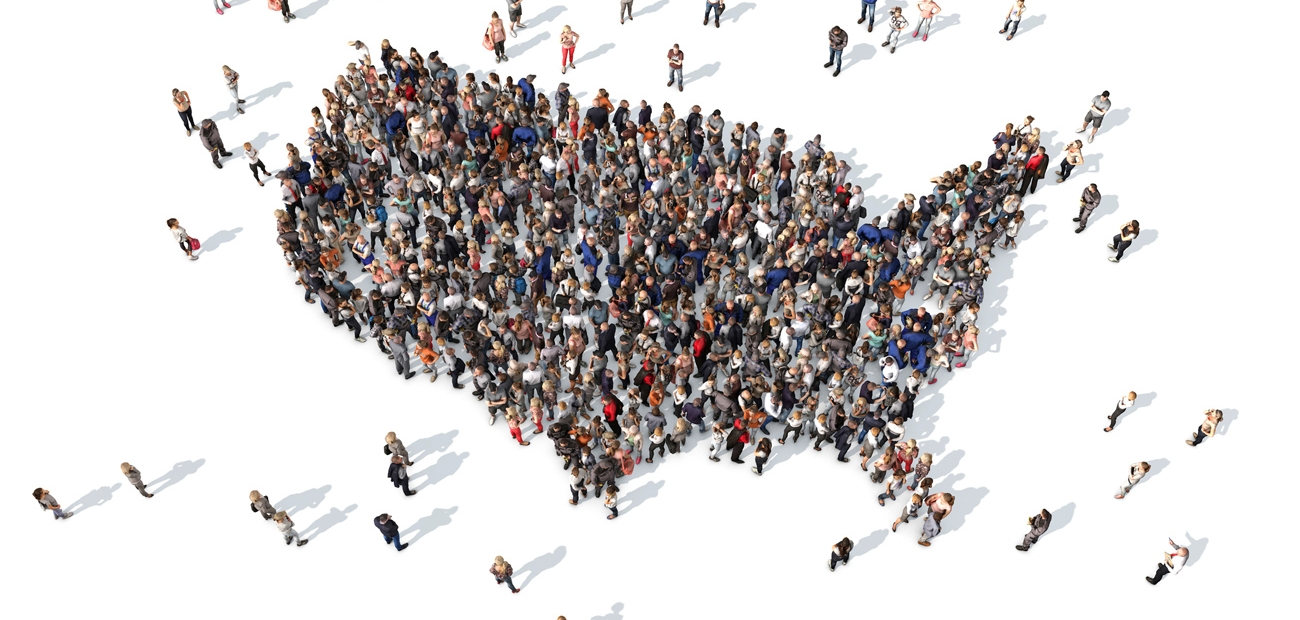 USA Map as People - Consumer Outreach