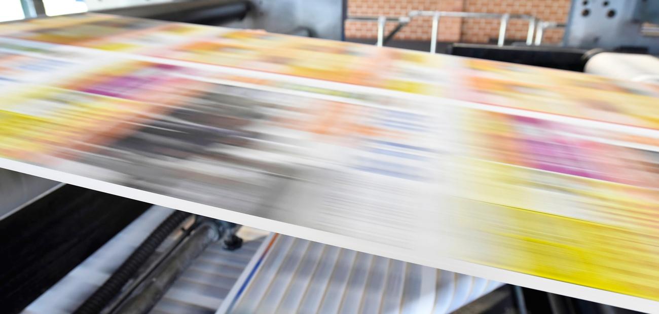 Printing press - copyright concept