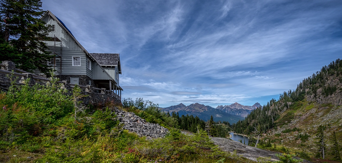House on a hill in the Pacific Northwest