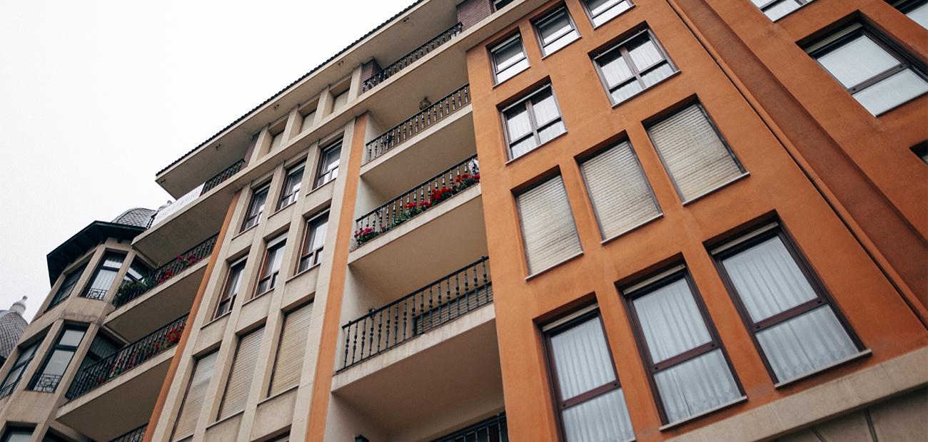 Red brick condominium building