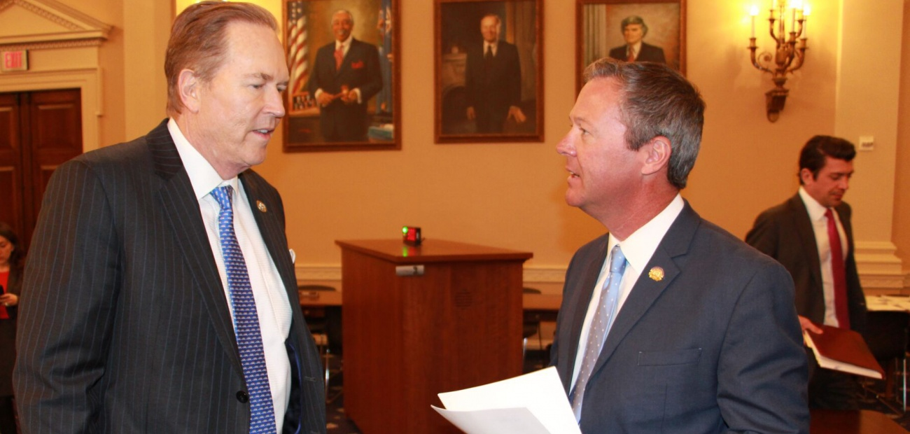 Rep. Vern Buchanan (R-Fla.) and Barry Grooms Subcommittee talking about Tax Policy