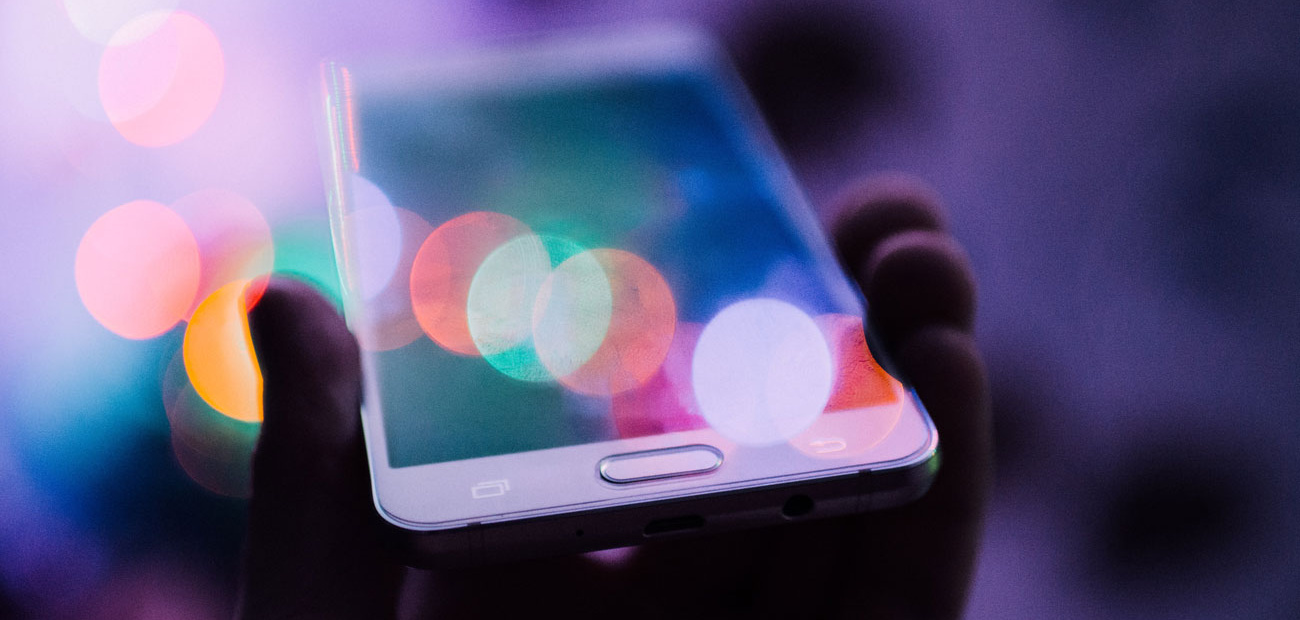 Smartphone with light bubbles
